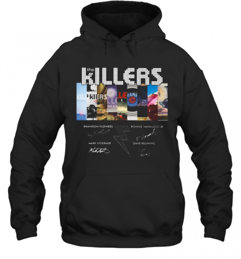 The Killers Band Members Signatures T-Shirt Unisex Hoodie