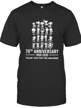 The Peanuts Cartoon 70Th Anniversary 1950 2020 Thank You For The Memories T-Shirt
