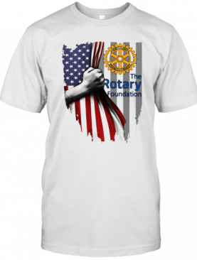 The Rotary Foundation Logo American Flag Independence Day T-Shirt