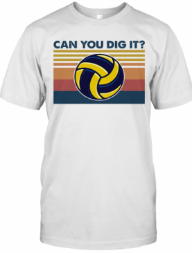 Volleyball Can You Dig It Vintage Retro T-Shirt