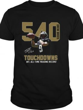 540 Drew Brees Touchdowns Nfl All Time Passing Record Signature