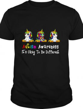 Autism Awareness It's Okay To Be Different shirt