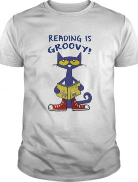 Cat reading is groovy shirt
