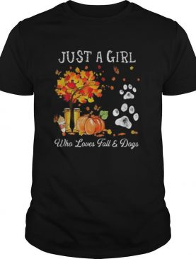 Halloween Just a girl who loves fall and dogs shirt
