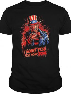 Halloween freddy krueger i want you for your soul shirt