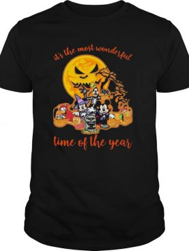 Halloween mickey mouse cartoon characters it's the most wonderful time of the year moon shirt