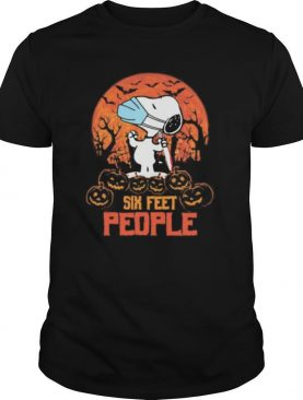Halloween snoopy six feet people pumpkins shirt