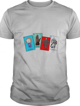 Halloween the characters horror card shirt