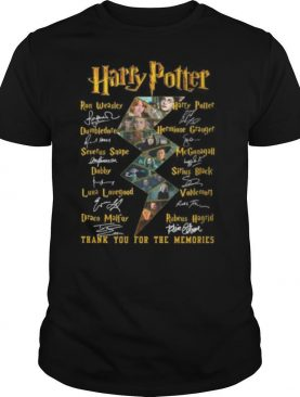 Harry potter thank you for the memories characters signatures shirt