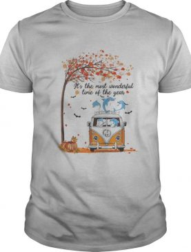 Hippie Car Dolphins It's The Most Wonderful Time Of The Year Halloween Autumn shirt