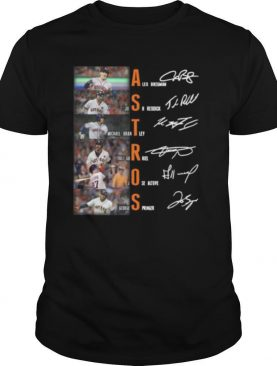 Houston astros baseball players signatures shirt