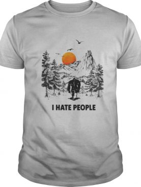 I Hate People Bigfoot Forest Sunset shirt