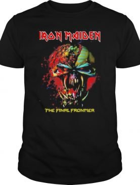 Iron maiden band skeleton the final frontier shirt