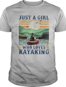 Just a girl Who loves Kayaking Vintage retro shirt
