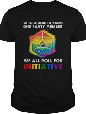 Lgbt Black Lives Matter When Someone Attacks One Party Member We All Roll For Initiative shirt