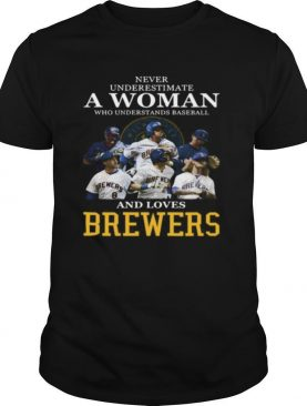 Never underestimate a woman who understands football and loves brewers shirt