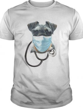 Nurse yorkie dog mask shirt