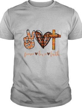 Peace Love Faith Hand Heart Cross shirt