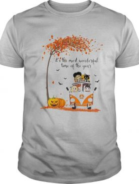 Peace bus it's the most wonderful time of the year leaves tree shirt