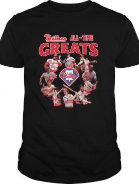 Philadelphia phillies alll time greats signatures shirt