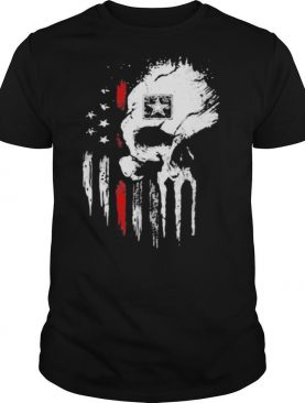 Red Army Skull American Flag Independence Day shirt