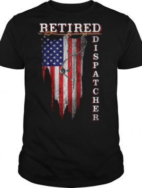 Retired Dispatcher American Flag Independence Day shirt