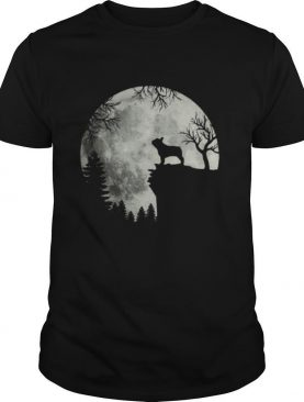 Shadow Of The French Bulldog Howling In The Moon shirt