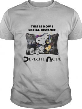 Snoopy This Is How I Social Distance Depeche Mode shirt
