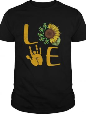 Sunflower Bear Skeleton Hand Love shirt