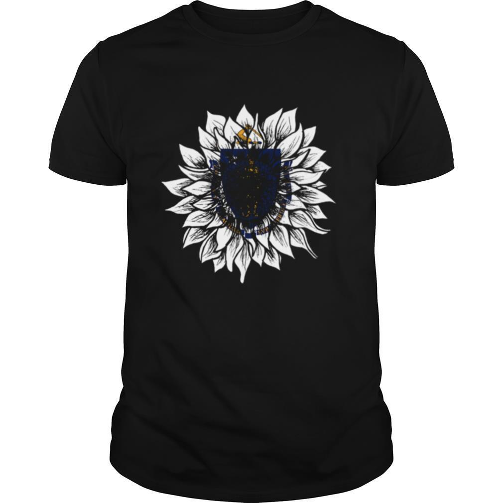 Sunflower Massachusetts Flag shirt0