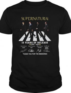 Supernatural The Abbey Road 15 Years Of Release 2005 2020 Thank You For The Memories Signatures shirt