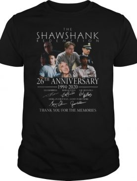 The Shawshank Redemption 26th Anniversary 1994 2020 Signature Thank You For The Memories shirt