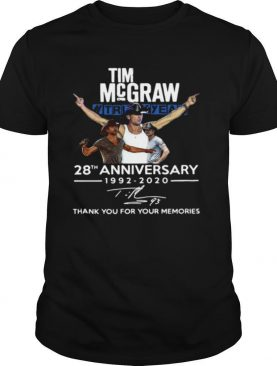 Tim Mcgraw 28th Anniversary 1992 2020 Thank You For The Memories shirt