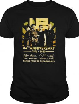 U2 44th anniversary 1976 2020 thank you for the memories signatures shirt