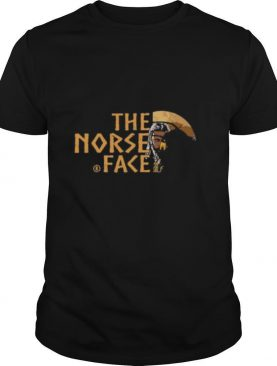 Vikings and raven the norse face logo shirt