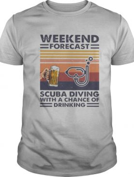 Weekend forecast scuba diving with a chance of drinking vintage retro shirt