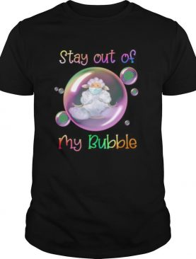 Yoga sheep mask stay out of my bubble covid 19 shirt