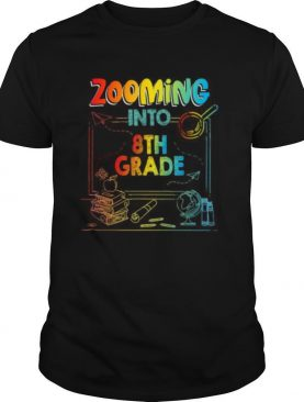 Zooming Into 8th Grade Virtual Back to School Kid shirt