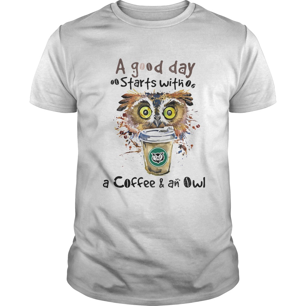 a good starts with a coffee and an owl