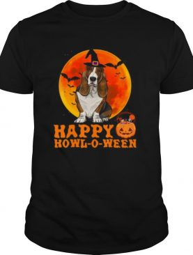 Basset Hound Dog Halloween Happy Howl o ween shirt