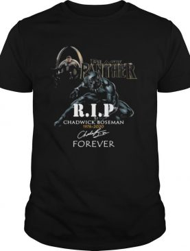Black panther rip chadwick 1976 2020 forever signature shirt