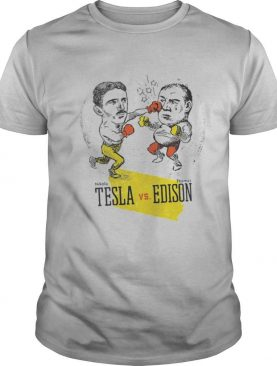 Boxing Nikola Tesla and Thomas Edison shirt