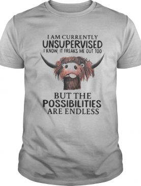 Buffalo I am currently unsupervised i know it freaks me out too but the possibilities are endless shirt