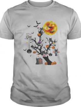 Cat Tree Happy Halloween shirt
