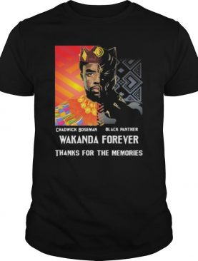 Chadwick Boseman black panther 1976 2020 thank you for the memories signature shirt