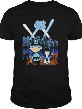 Charlie brown and snoopy north carolina baseball shirt