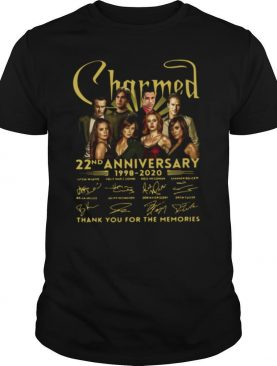 Charmed movie 22nd anniversary 1998 2020 thank you for the memories signatures shirt