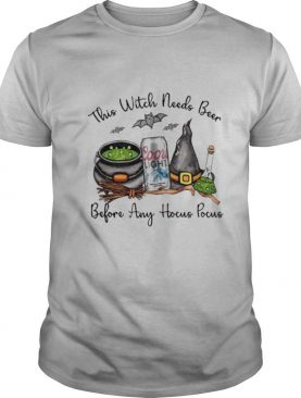 Coors Light This Witch Needs Beer Before Any Hocus Pocus shirt