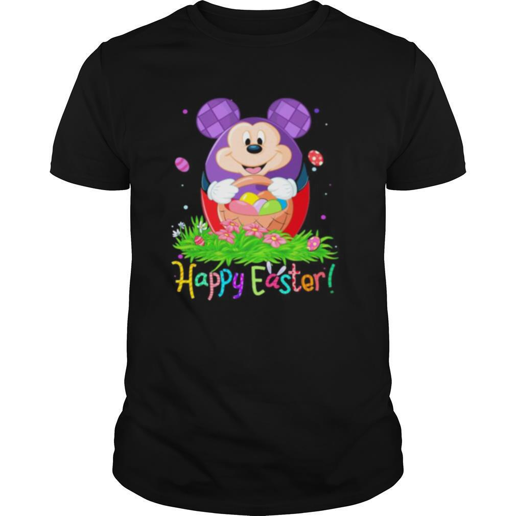 Disney mickey mouse happy easter flower shirt0