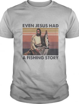 Even jesus had a fish story lines vintage retro shirt